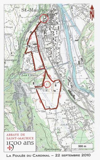 1500e Foulée du Cardinal parcours 5,8km